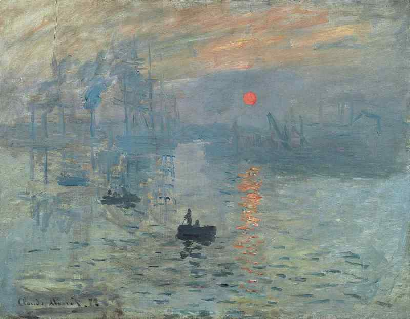 Impression, Sunrise, Claude Monet, Marmottan Museum Paris