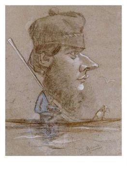 Caricature by claude monet
