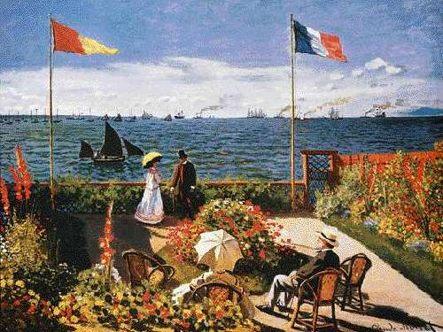 garden at sainte adresse by claude monet