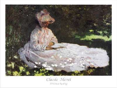 the reader by claude monet