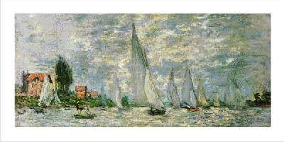 claude monet regatta at argenteuil