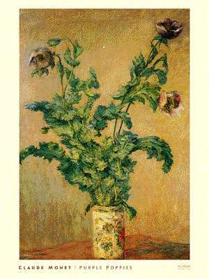 Vase of poppies by monet