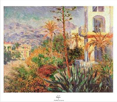 villas at Bordighera by monet