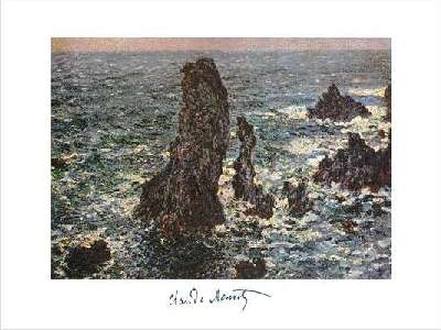Pyramids at Port Coton rought sea by Claude Monet