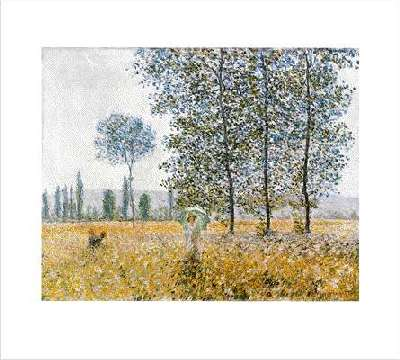Claude Monet Sunlight effect under the poplars