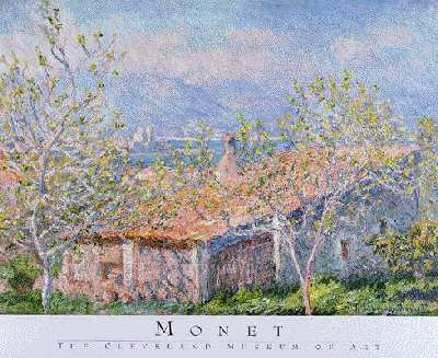 Gardener s house at Antibes by monet