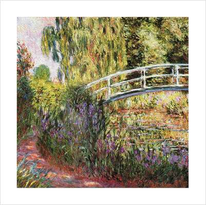 Water Lily pond water irises by Claude Monet
