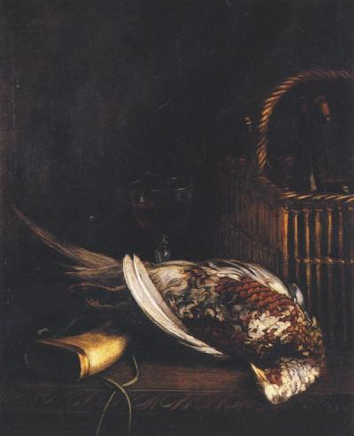 still life with pheasant by monet