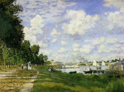 Claude Monet the port at Argenteuil