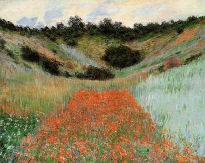 Claude Monet Poppy field in a hollownear giverny