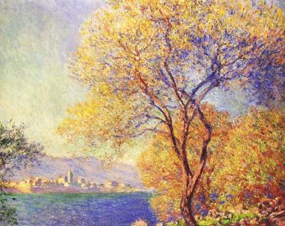 antibes seen from the Salis gardens by monet