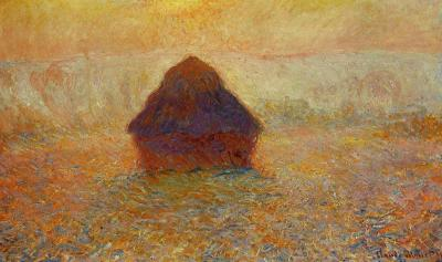 Grainstack sun in the mist monet