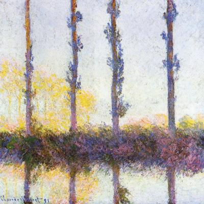 Poplar series by Monet