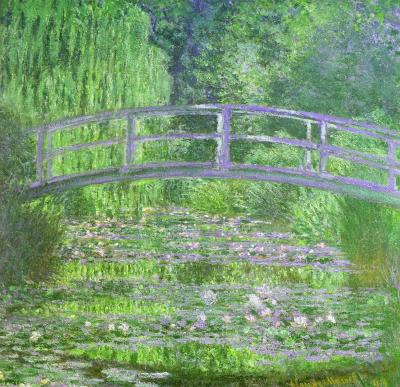 Water Lily pond symphony in green by Claude Monet
