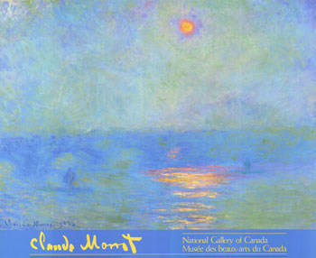 Claude monet waterloo bridge effect of sunlight in the fog