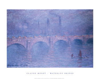 claude monet waterloo bridge hazy sun