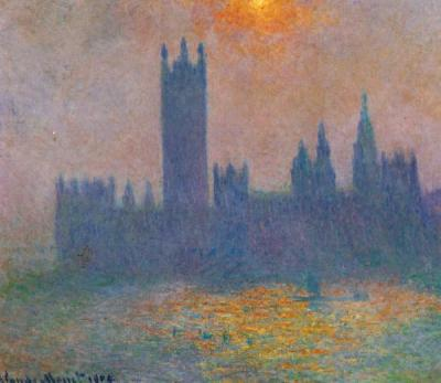 Claude Monet Houses of Parliament,Effect of Sun in the Fog