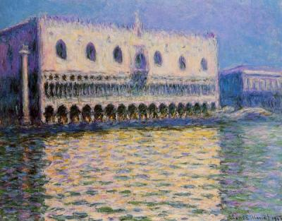 The Doge Palace Venice by claude monet